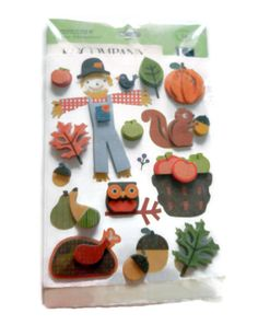 K & Company Autumn Stickers by CloudNineSupplyShop on Etsy, $3.25