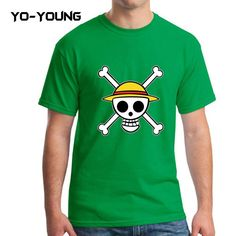 Yo-Young Mens T Shirts Anime One Piece Printed 100% Cotton Casual Top Tee camisetas Brand Quality Customer Made
