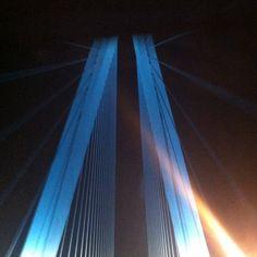 Stan Musial Bridge connecting Saint Claire County, Illionois, and Saint Louis, Missouri