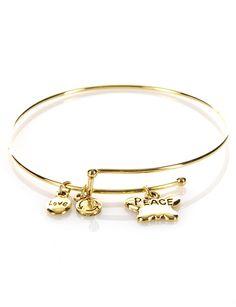 Adjustable Charm Bracelet PeaceItem: LLBRACELET5-9.5-Peace $7.00