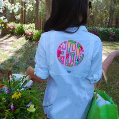 {{If I was a flower growin' wild and free, all I'd want is you to be my sweet honey bee. }}   Our Lilly Pulitzer Monogrammed Columbia Fishing Shirts are just what you need to brighten up your wardrobe this spring!☀️