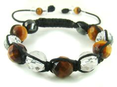 BB0488N Tiger's Eye Clear Quartz Hematite Natural Crystal Beads Chinese Knot Thread Bracelet - See more at: http://dzicrystal.com/products/crystal-by-product/crystal-bracelet-wt-adjustable-thread/bb0488n-tigers-eye-clear-quartz-hematite-natural-crystal-beads-chinese-knot-thread-bracelet-detail