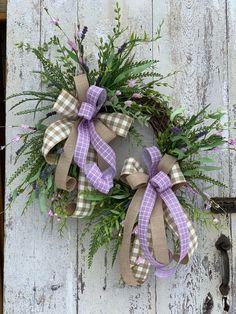 Spring wreath for front door, Rustic wreath, Farmhouse wreath, Lavender spring wreath, Summer wreath – Wreath For Front Door İdeas. Diy Wreath, Grapevine Wreath, Fall Wreaths, Christmas Wreaths, Double Door Wreaths, Etsy Wreaths, Sunflower Wreaths, Welcome Wreath, Front Door Decor