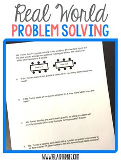 Problem Solving: Wedding Math....I called on my 4th grade mathematicians to help me solve a wedding-planning problem!
