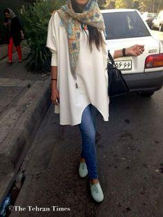 Уличная мода иранских девушек