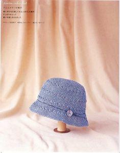 Knit Crochet, Crochet Hats, Crochet Headbands, Summer Hats, Colored Denim, Cowl, Bucket Hat, Diy And Crafts, Beanie