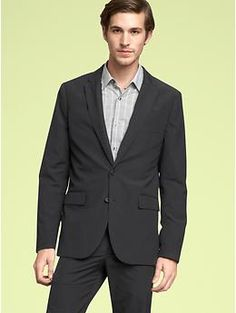 Charcoal blazer from Gap. Perfect with black chinos.