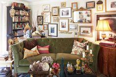 Green Velvet Sofa | Inspired Living Omaha