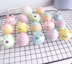 New cake cute kawaii cupcake ideas Disney Desserts, Cute Desserts, Disney Cakes, Disney Food, Cute Snacks, Cute Food, Mochi, Meringue Desserts, Cute Baking