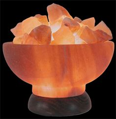 Himalayan rock salt lamps - Love the glow ... they claim to have homeopathic properties as well ...