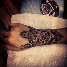 Would never do this but it's sooo pretty! tattoos inked tattoo ink tattooed sleeve hand tattoo sleeves arm tattoo inked up flower tattoo Hand Tattoos, Tattoos Motive, 27 Tattoo, Cuff Tattoo, Muster Tattoos, Piercing Tattoo, Body Art Tattoos, New Tattoos, Sleeve Tattoos