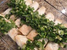 Chicken and Spinach Enchiladas with Tomatillo Salsa