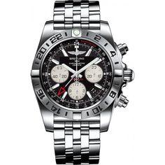breitling chronomat 44 GMT steel black mens watches