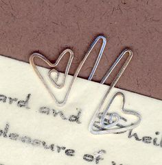 wire heart bookmark