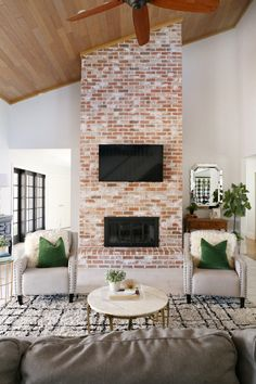 When I moved into my house one of the first things I was dying to get my hands on was this fireplace in our main family room. I wanted to try and re-grout the brick fireplace so that it looked more my style. I had never re-grouted before and I did not have any experience with brick but I really wanted to make it happen. I was shocked at how easy re-grouting my brick fireplace really was. I was able to re-grout my fireplace using 4 bags of white mortar and a little bit of hard work. I decided…