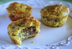 "Full Moon Sausage and Cream Cheese Muffins (Low Carb) ~ GREAT 'make ahead' breakfast ""to go"" or snack idea! YUM!"