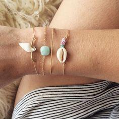 Bijoux du jour - bracelets coquillage pour l'été