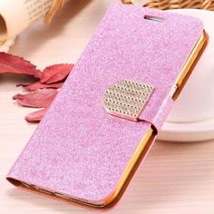 Glitter Card Slot Leather Samsung
