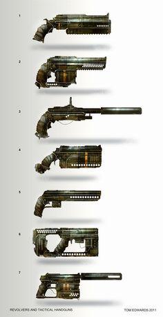 Pistols and Revolvers by TomEdwardsConcepts.deviantart.com on @deviantART: