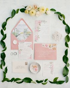 See some of our favorite, unique spring wedding ideas using spring wedding colors and spring wedding flowers. Spring Wedding Invitations, Watercolor Wedding Invitations, Floral Invitation, Wedding Invitation Suite, Wedding Stationery, Invitation Design, Invitation Cards, Anemone Wedding, Spring Wedding Flowers