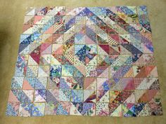 Prayer Quilt Patchwork Hospital Bed Healing Tied by BlueDoorQuilts