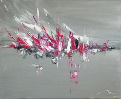 Intemporelle toile abstraite acrylique 73x60 cm - Artiste Michael Aksamit