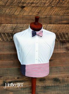 Mens Cummerbund Set~American Flag Cummerbund~American Flag Bow Tie~Mens Formal…