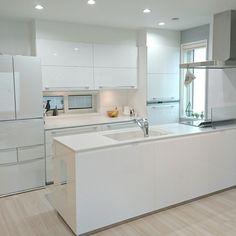 Kitchen/冷蔵庫/キッチンカウンター/ホワイトのインテリア実例 - 2017-09-05 12:45:01 | RoomClip (ルームクリップ)