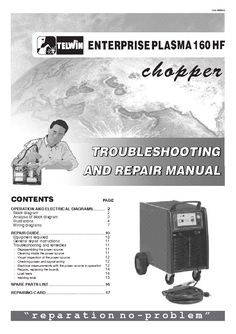 TELWIN FORCE 125 WELDING SCH Service Manual download, schematics, eeprom, repair info for electronics experts