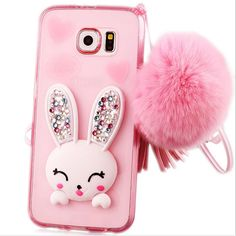 iPhone 6 Plus/6s Plus 3D Cute Cartoon Case-Aurora Pink iPhone 6 Plus/6s Plus 5.5 Inch Bling Transparent Crsytal TPU Silicone Case with Rhinstone Kickstand Rabbit Hairball for Kids Girls. With the high-quality TPU it keeps your iPhone from unwanted blemishes, scratches, or any damages from accidentally bumping or dropping your phone. Super soft adorable rabbit ear hassel slim rubber bumper case. Can be converted into a stand case with different viewing angles. Easy to take it off or put it...