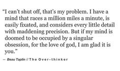 Beau Taplin • The Over-thinker