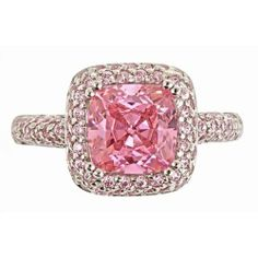 Pink Diamond Cz Legacy Ring in Sterling Silver - Diamond, Legacy, Pink, Ring, silver, Sterling