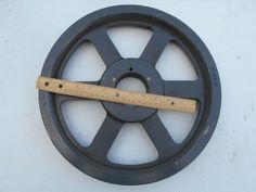 "Electric Motor V-Belt  Sheave Pulley 14"" Dia. Double Groove  2-5/8"" Hub #unsure"