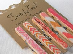 Items similar to Decorative Clothes Pins in a mix of orange and pink. on Etsy Make And Sell, How To Make, Clothes Pegs, Craft Fairs, Decoupage, Paper Crafts, Diy, Orange, Washi Tape