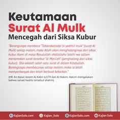 Al-mulk sebelum tidur Muslim Quotes, Islamic Quotes, Bacaan Al Quran, Doa Islam, All About Islam, Self Reminder, Islamic Pictures, Hadith, Videos Funny