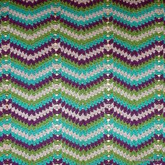 🌳Colcha de Crochê Inspiração Colorida Ziguezague -  / 🌳 Crocheted than Quilt Inspiration Colorful Zigzag -