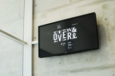 Over and Over Exhibition : Luke Robertson  Tagged typography, logo, time, motion, movement, split