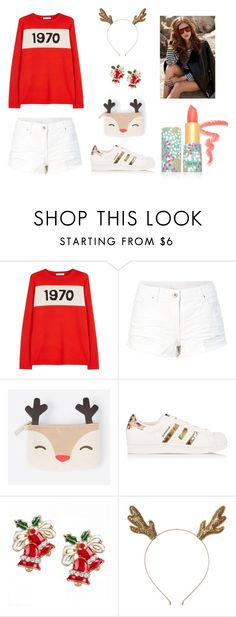 """Rudolph's Red Nose"" by hien-anhhs on Polyvore featuring mode, Bella Freud, adidas Originals et tarte"