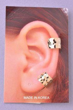 Textured Ear Cuffs - Gold or Silver – H.C.B.