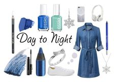 """""""day to night: contest entry"""" by joellesmolenaers on Polyvore featuring mode, Converse, Topshop, Essie, Kate Spade, Urban Decay, Amanda Rose Collection, MAC Cosmetics, Sisley - Paris en Beats by Dr. Dre"""