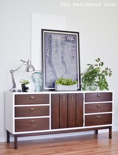 Fresh and Modern Mid Century Dresser with Geometric Drawers   from theweathereddoor.com-2