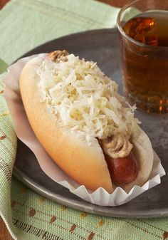 NYC Dogs -- Serve this New-York style hot dog recipe with a mixed green salad and a piece of your favorite fresh fruit.