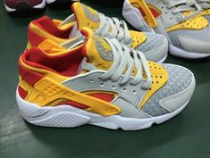 popular Nike WMNS Air Huarache Woven Lite Orewood Brown Atomic Mango Laser Crimson shoes 2015