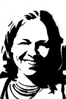 Creatief talent @ St.-Lutgart Beernem: een grafisch portret - een stencil (graffiti art)