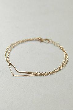 Oct 2013-Chevron Heart Bracelet #anthropologie