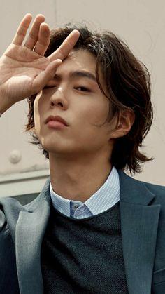 Side Profile Woman, Female Profile, Hot Korean Guys, Korean Men, Asian Actors, Korean Actors, Park Bo Gum Cute, Park Go Bum, Fluffy Hair