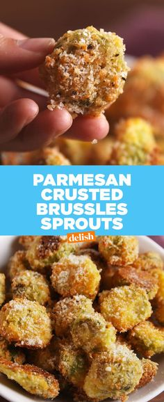 Best Parmesan Crusted Brussels Sprouts Recipes - How to Make Parmesan Crusted Brussels Sprouts Yummy Recipes, Side Dish Recipes, Appetizer Recipes, Vegetarian Recipes, Cooking Recipes, Yummy Food, Healthy Recipes, Appetizers, Side Dishes