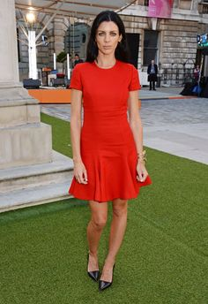 Pin for Later: Summer Season Has Officially Started in London Liberty Ross Liberty stood out in a fit-and-flare red dress at the Royal Academy Summer Exhibition Preview Party.