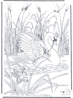 Elvenpath Coloring Pages Detailed Coloring Pages, Fairy Coloring, Coloring Pages To Print, Coloring Book Pages, Printable Coloring Pages, Coloring Sheets, Coloring Pages Nature, Bird Template, Fabric Painting