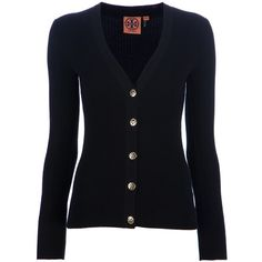 TORY BURCH long sleeve fitted cardigan ($236) found on Polyvore